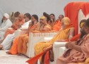 गौ अधिकार रक्षा शहीदों की याद में पूरी शंकराचार्य के नेतृत्व में एकत्र हुए महात्मा