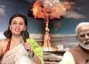 सागरिका घोसे है तो भारतीय पर एक पाकिस्तानी की तरह भारत को दी पाकिस्तान के परमाणु शक्ति होने की धमकी