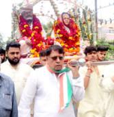 शांडिल्य महाराज की पालकी यात्रा में शामिल हुए मंत्री श्री शर्मा