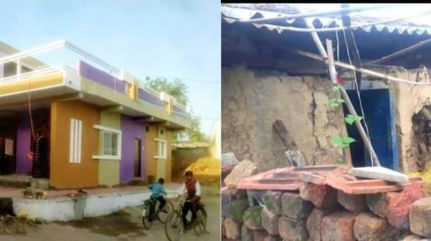 झोपडी में रहने वाले शहीद के परिवार को युवाओं ने भेंट किया बँगला
